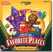 Crayola Magic 3-D Coloring Book Favorite Places