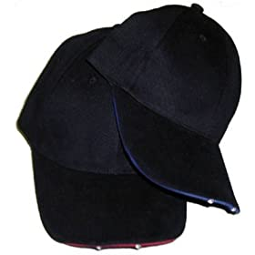 Panther Vision LHB-275496 Lighted Hat with Brim Switch - Black