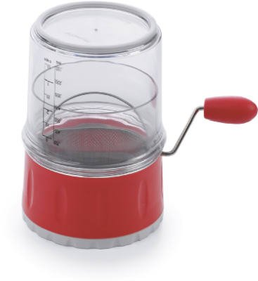 Progressive GFS-1 Flour Sifter, With Dusting Mesh, Clear/Red Plastic, 3-Cups