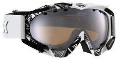 Skibrille Uvex Apache Pro in 5 Farben, Farbe:white-black graphics; Gr&#195;&#182;&#195;?e:one size