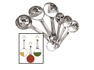 Purchase Oggi Silver Plated 6 Piece Measuring Spoon Set cheapest