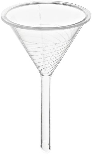Bel-Art Scienceware Urbanti 146440000, 76ml Capacity, Polymethylpentene Round High-Speed Filter Funnel, with Internal Helicoid Ribs to Increase Filtration Speed (Pack of 6)
