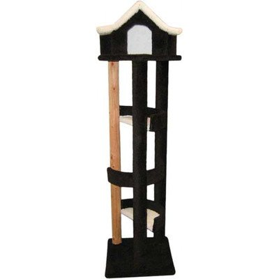 New Cat Condos Premier 6' Pagoda Cat House, Beige