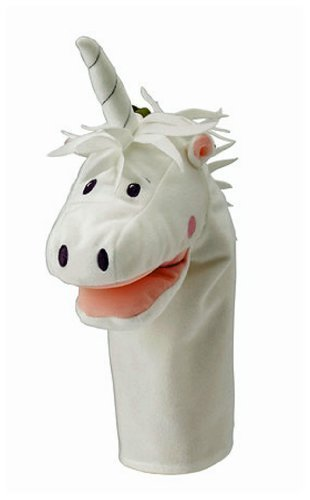 Ikea Fantasivarld Hand Play Glove Puppet Childrens Soft Toy White Unicorn