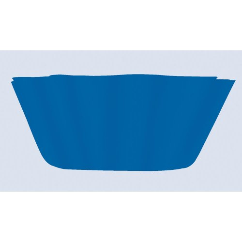 Creative Converting Plastic Fluted Bowl, Blue, 8-Inch