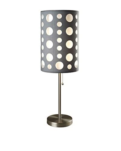 ORE International Modern Retro Table Lamp, Grey/White