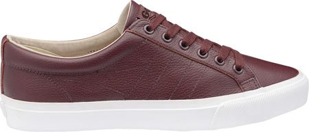 Gola Men's Vantage Casual Sneaker,Burgundy/White Leather,US 9 M