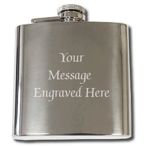 Personalised Hip Flask Gift Engraved Free, 6oz for Birthday, Wedding, Anniversary