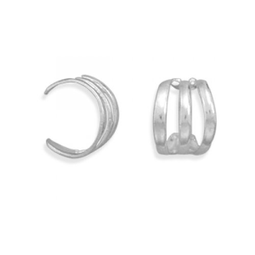 MMA Silver - 3 Row Polished Ear Cuff