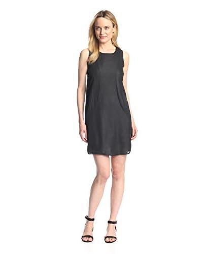 Everly Women's Sleeveless Shift Dress  [Black]