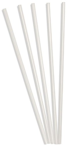 Perfect Stix Clear Concession Straight-Cut Straw, Unwrapped, 7-3/4