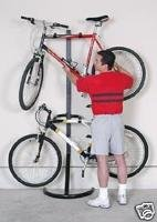 Two Bike Gravity Bicycle Freestanding Storage Stand