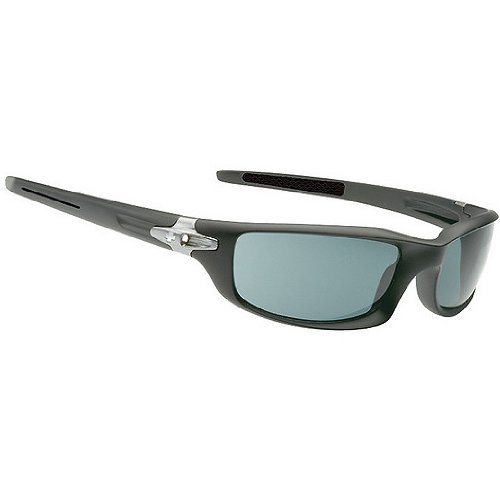 Spy Diablo Sunglasses - Spy Optic Scoop Series Polarized Fashion Eyewear - Color: Matte Black/Grey, Size: One Size Fits All