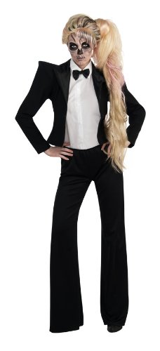 Lady Gaga Tuxedo Costume, Black, Standard