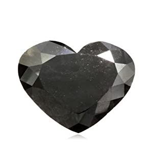 16.82 Cts of 15.55x19.88x7.12 mm AAA Heart Modified Brilliant GIA Certified ( 1 pc ) Loose Natural Fancy Black Diamond