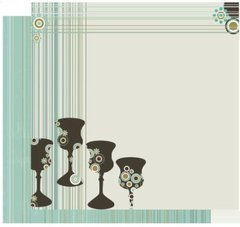 Passover Scrapbooking Paper - Four Fab Cups