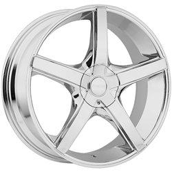 Akuza 848 Axis 18×8 Chrome Finish Wheel / 5x110mm 5x115mm / 35mm Offset / 74.1mm Hub Bore