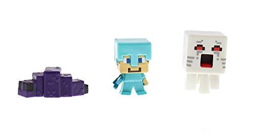 Minecraft Mini-Figures - Steve? (With Diamond Armor), Ghast & Endermite (Minecraft Figures Diamond Steve compare prices)