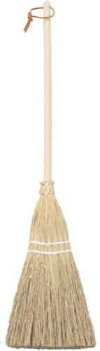 "Camden Rose Childs Broom, Natural Broomcorn, 36"", Hickory Handle front-960547"