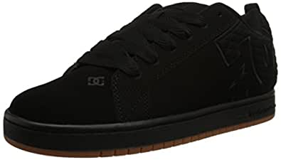 DC Men's Court Graffik SE Skate Shoe, Black, 6 M US