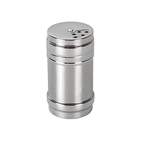 Stainless Steel Dredge Salt / Sugar / Spice / Pepper Shaker Seasoning Cans with Rotating Cover - 1 PCS (Salt Shaker compare prices)
