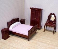 1:12 Scale Dollhouse Bedroom Furniture - Ages 6+