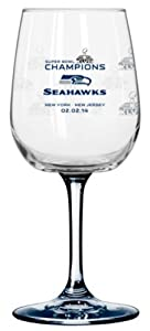 Super Bowl XLVIII 48 Champs Seattle Seahawks Satin Etched Wine Glass by Boelter