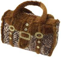 Purse With Rope Tug Dog Toy, Assorted