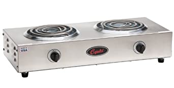 "Capitol Range Double Burner Hot Plate, 17.5"" x 3.5"" x 11.5"""