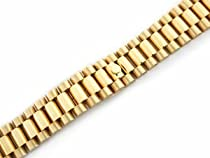 Mens President Watch Band for Rolex Watch 20mm 18k Gold