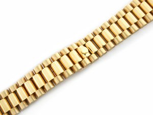 Mens 18ky All Gold President Watch Band for Rolex 20mm