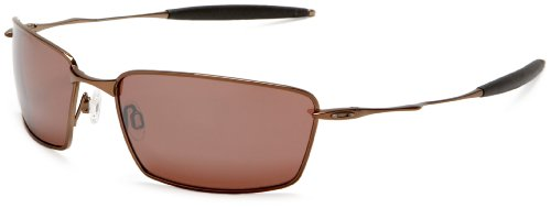 Oakley Men's Titanium Square Whisker Polarized Sunglasses,Burnt Copper Frame/VR28 Black Lens,one size
