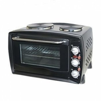 Igenix Feb1126 Litre Mini Oven With Double Hotplate Black