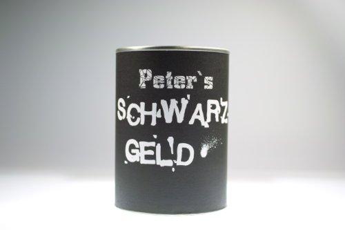 """Spardose Sparbüchse """"Schwarzgeld"""" - Indiviualisierbar mit Namen!"""
