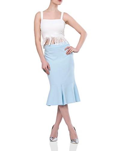 IRONI Falda Azul Claro ES 42 (DE 40)