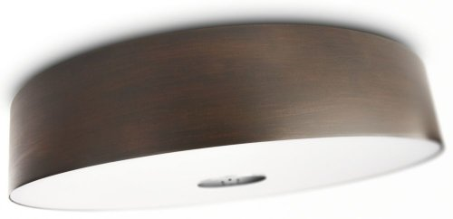 Philips 40340/11/48 Ecomoods Energy Efficient Ceiling Light, Chrome And Wood Laminate