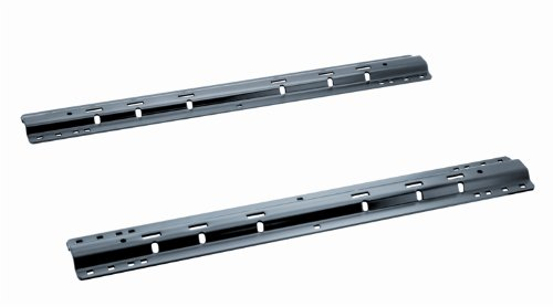 58058 Black Powder Coat 38 lbs. Fifth Wheel Mounting Rails with 10-Bolt Design (Valley Fifth Wheel Rails compare prices)