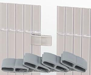 mattenverbinder f r kunststoff balkon sichtschutz von videx aluminium farbig mit 4. Black Bedroom Furniture Sets. Home Design Ideas