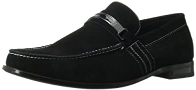 Stacy Adams Men's Carville Slip-On Loafer,Black Suede,7 M US