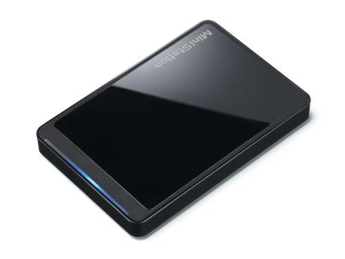 BUFFALO ポータブルハードディスク PC/家電対応 (Regza[レグザ]/Aquos[アクオス]) 1TB HD-PCT1TU2-BB/N [フラストレーションフリーパッケージ(FFP)]