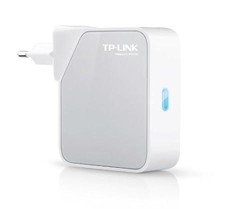 TP-LINK TL-WR710N Sans fil N Mini Répéteur/Routeur/Point d'accès/Client Wifi pour TV connectée (2 ports Ethernet, 1 port USB 2.0 , alimentation intégrée)