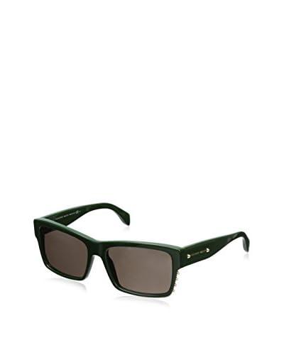 Alexander McQueen Women's AMQ 4258/S  Sunglasses, Dkgrn Sld