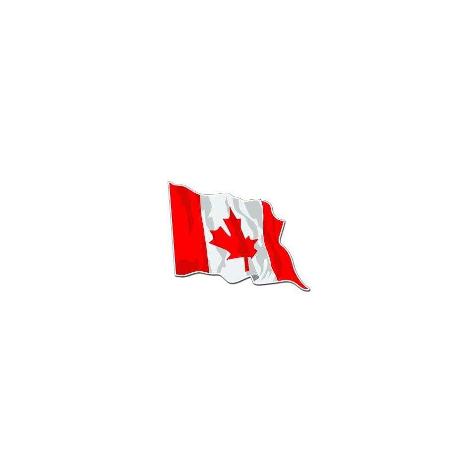 CANADA WAVING FLAG   Sticker Decal   #S0143