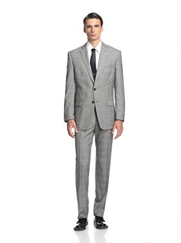 Calvin Klein Men's Malik Check Two Button Notch Lapel Suit