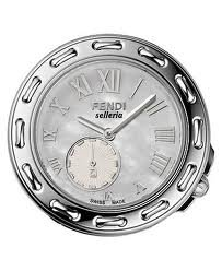"Fendi ""Selleria"" Mother-of-pearl Dial Women's Steel Watch F81034h With Mesh Steel Bracelet"