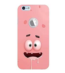 EPICCASE Cartoon face cover Mobile Back Case Cover For Apple iPhone 6, 6S Logo Cut (Designer Case)