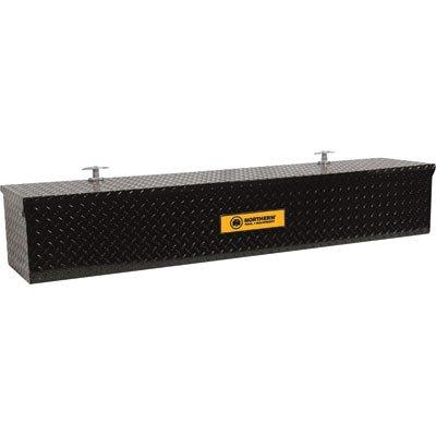 Northern Tool + Equipment Aluminum Flush-Mount Side-Bin Truck Box - Black, 60 1/2in.L x 12 1/2in.W x 10 1/2in.H