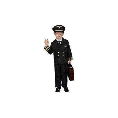 Airline Pilot w/ Jacket Child Costume Size 4-6 Small