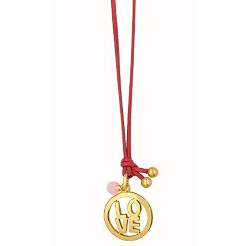 sence-copenhagen-collier-en-cuir-avec-love-statementanhanger-sydney-rouge-mat-dore-et-perle-en-quart