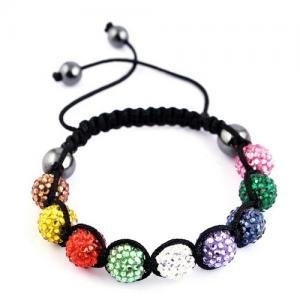 Shamballa Bracelet Multicolour Swarovski Crystal Unisex